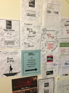 Well wishes from other shows on Broadway!